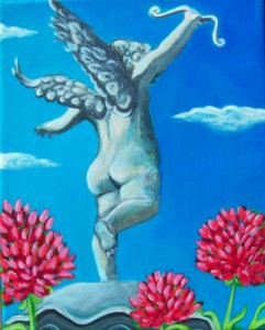 'Cupid Amidst Flowers' by Betsy Fairbrother