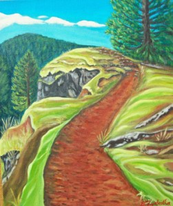 'Path at the Bluff' by Betsy Fairbrother