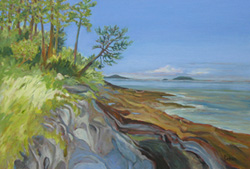 Looking North, Galiano Island by Bruce Dolsen