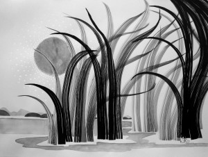 'Through the Grasses' by Francine Renaud