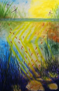 'Life of the Pond' by Tish Saunders, 2005