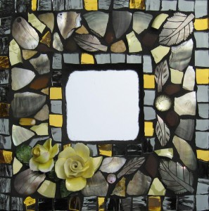 'Leaves, Shells & Buds, Mosaic Mirror' by Chris Gaylor