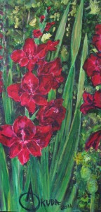'Gladiolus with Tomato' by Annie Okuda