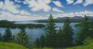 'Panorama View from Bluffs' by Tish Saunders