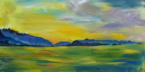 'Sunset Bay, Rainbow Channel' by Annie Okuda