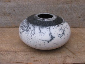 carved Naked Raku by Laurie MacCallum